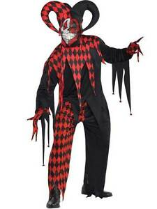 image is loading mens teens krazed jester evil clown fancy dress