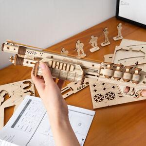 Robotime-Holzpistole-Spielzeug-3D-Puzzle-Modellbau-Geschenk-fuer-Kinder-Jungen