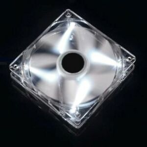 InWin-1600rpm-120mm-12cm-White-LED-Case-PC-Fan-Cooling-3-Pin-Molex-Computer