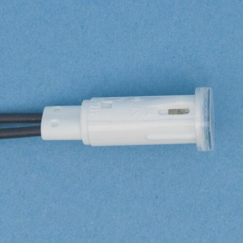 RAFI Signalleuchte Meldeleuchte 1.69507.317 farblos  230V  rund 10mm mit Litze