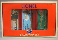 Lionel Christmas Billboard Set Fastrack (3) Train Scenery Holiday Nyc 6-35295