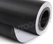 "12"" x 60"" Black Carbon Fiber Vinyl Film Wrap 3D Bubble Free Air Release 1ftx5ft"