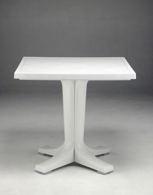 Nardi Tavoli Da Esterno.Nardi Tavolino Tavolo Da Giardino 40081 00 000 Resina 80x80x73 Cm Bianco