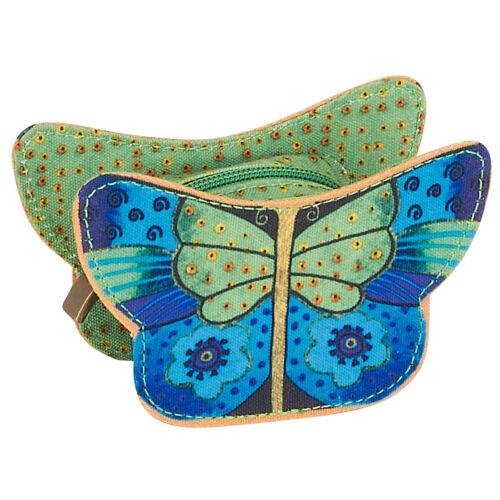 Laurel Burch Butterflies Small Jade Coin Purse Pouch