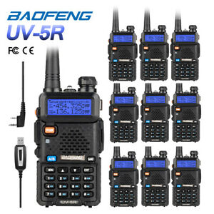 5Pack Baofeng UV-5R V//UHF Dual-Dand FM Ham Two-way Radio Transceiver Cable