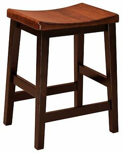 Set 4 24 Quot Counter Height Saddle Seat Bar Stool Backless