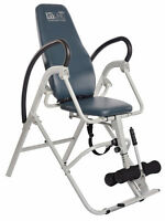 Stamina Inline Seated Inversion Chair Back Pain Relief Therapy Table 55-1550