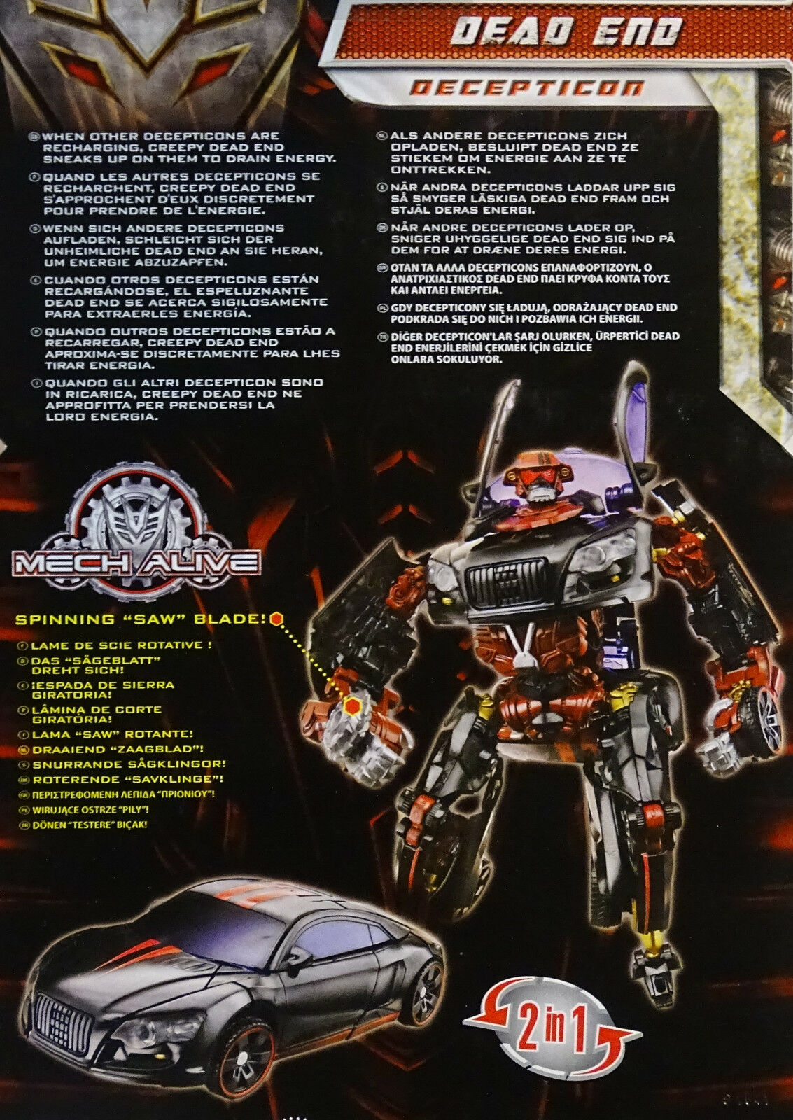 HASBRO® 92559 Transformers REVENGE OF THE THE THE FALLEN Deluxe Dead End 575786