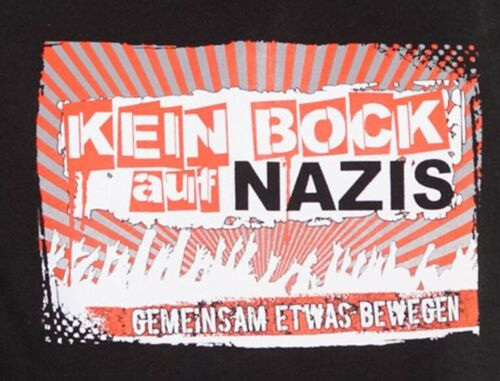 XXL★Punk Antifa★ ★KEIN BOCK AUF NAZIS★Hoodie Kapuzenpullover Kapu★Neu,OVP★Gr