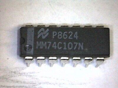 Mm74c107n 74c107 Dual J-K MSTER slave Flip-Flop with Clear dip14