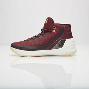 2e5b68ed4b6 Under Armour UA Steph Curry 3 SZ 11 MAGI Christmas Burgundy Gold ...
