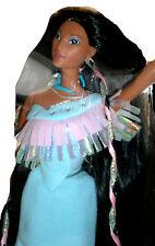 Disney Mattel Barbie Shining Braids Pocahontas Native American NRFB Neu