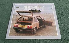 1982 PEUGEOT 104 ZL ZR ZS 3 DOOR UK BROCHURE September 1981