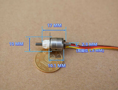 DC 5V Micro Mini 10mm 2-Phase 4-Wire Stepper Motor Telescopic Linear Screw Shaft