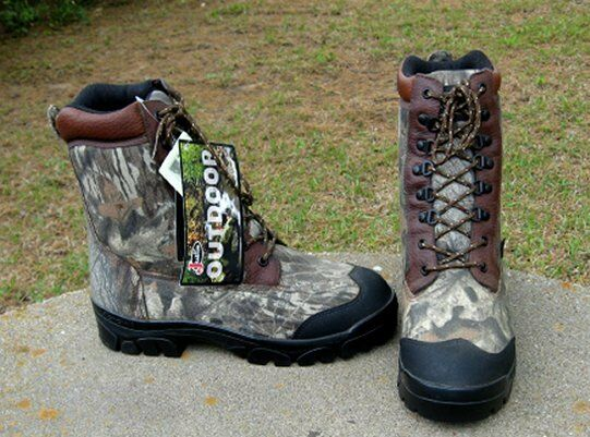 NEW  JUSTIN  OUTDOOR  LACE UP   BOOTS   MEN'S   8'1 2M