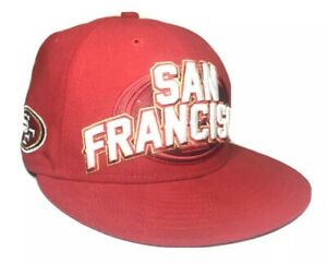 San Francisco 49ers 59fifty NFL New Era Fitted Baseball Cap Red Size 7 1//4