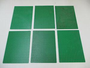 31#  LEGO 6 Platten 22x16 / 16x22 grün  Sammlung Konvolut kg Star Wars Ritter