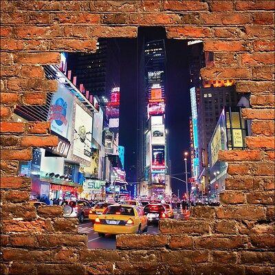 Wall sticker trompe l/' oeil new york taxi ref 815
