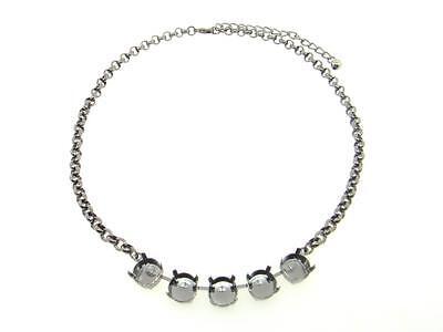 Empty 11mm 5 Box Necklaces Hand Set Stones 3pcs - Choose Finish