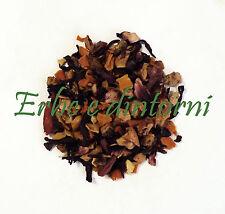 Infuso alla frutta ARANCIA ZENZERO Goji, karkadè, mela,carota, pepe rosa 100 gr.