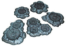 PEGASUS 5214 CRATER SET, UNPAINTED 5PC, 28mm SCALE  - BRAND NEW