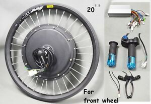 Image Is Loading New Usa 20inch 48v 500w Front Wheel E