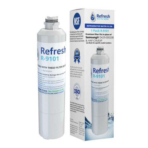 2 Pack Refresh Replacement Water Filter Fits Samsung RF22M9581SG Refrigerators