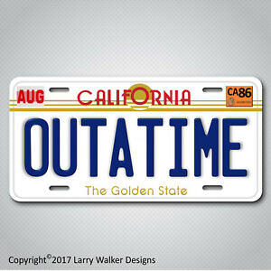 Back-to-the-Future-Delorean-OUTATIME-Replica-Prop-Aluminum-License-Plate-Tag