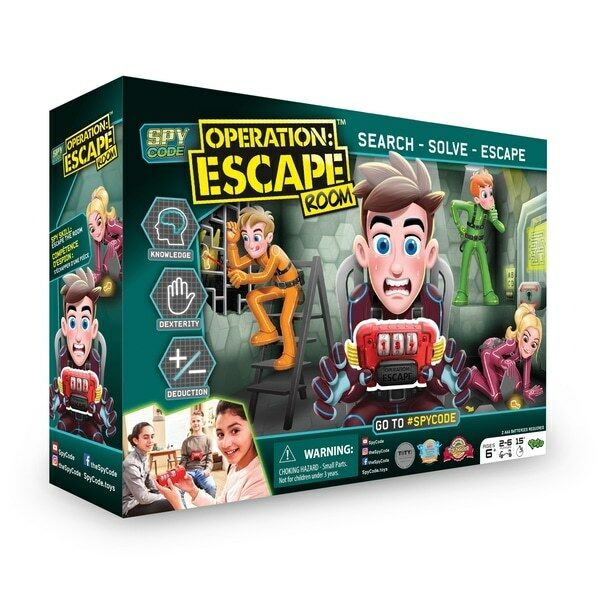 Spy Code - Operation  Escape Room Family Kids Challenge Strategy Puzzle Toy Game