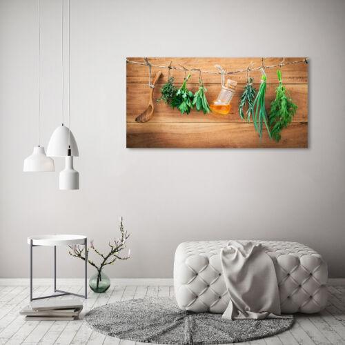 Glas-Bild Wandbilder Druck auf Glas 120x60 Deko Essen /& Getränke Kräuter Schnur