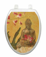 Toilet Tattoos Toilet Seat Lid Decor Serenity Buddah Lid Cover