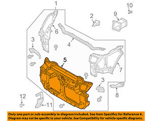 s l300 nissan oem 03 07 350z radiator core support center bracket