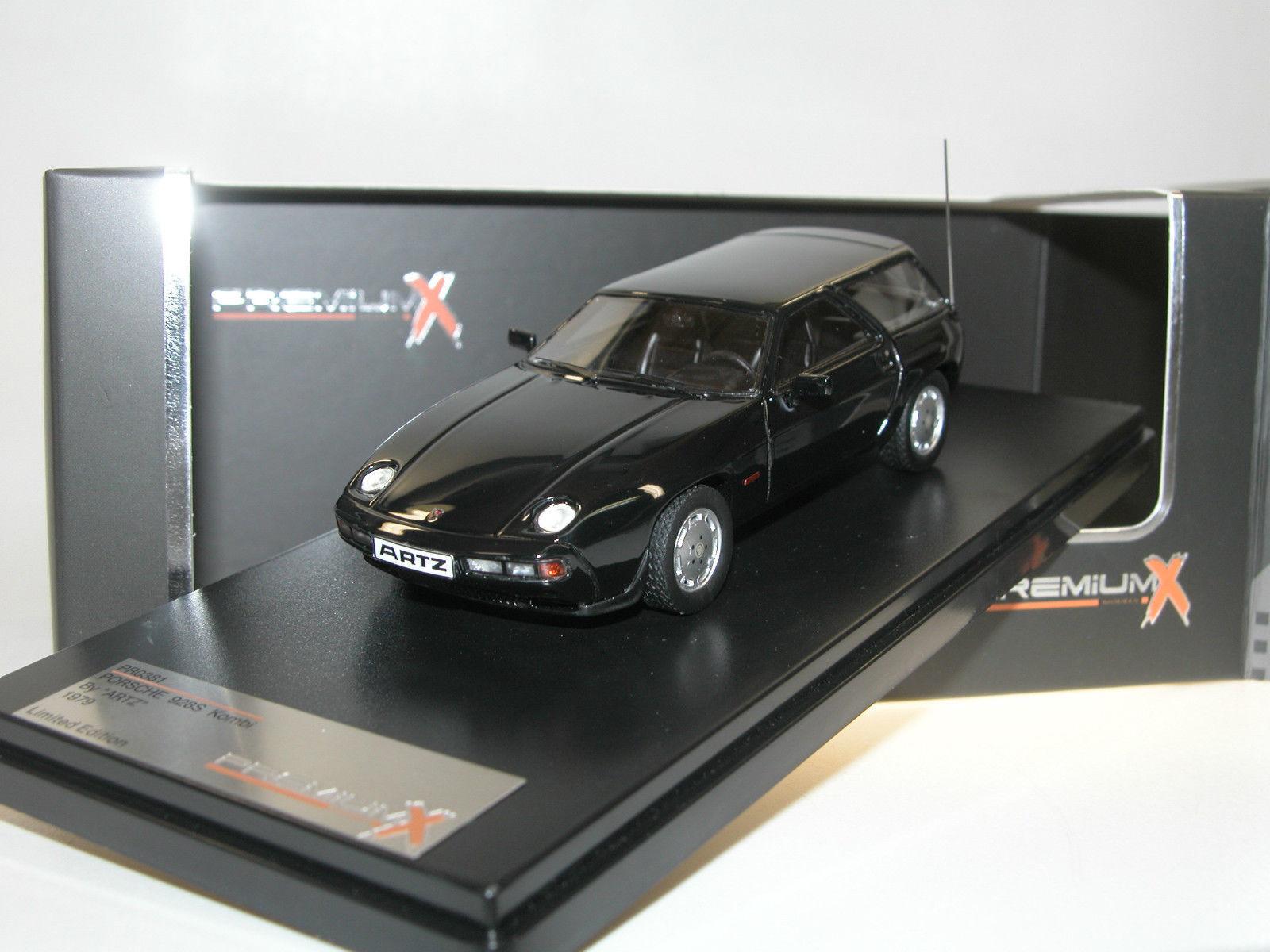 gran descuento Porsche Porsche Porsche 928 S KOMBI 1979 By Artz Negro Premium X PR0381 1 43 Resina Negro Negro  tienda de descuento