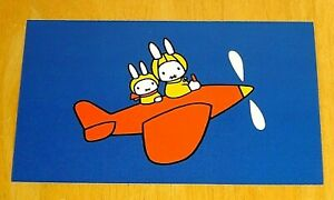 039-WITH-LOVE-FROM-MIFFY-039-POSTCARD-MIFFY-AND-UNCLE-BRIAN-FLY-HIS-PLANE-D-BRUNA