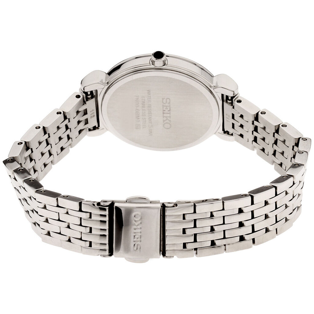 Seiko Essentials Quartz Movement Mother Of Pearl Dial Ladies Watch SFQ803   Ebay