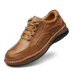 Para hombres Cómodos Cuero al aire libre sólido para senderismo y Con Cordones Zapatos Informales zapatos para caminar