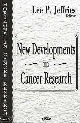 New Developments in Cancer Research by Nova Science Publishers Inc (Hardback,...
