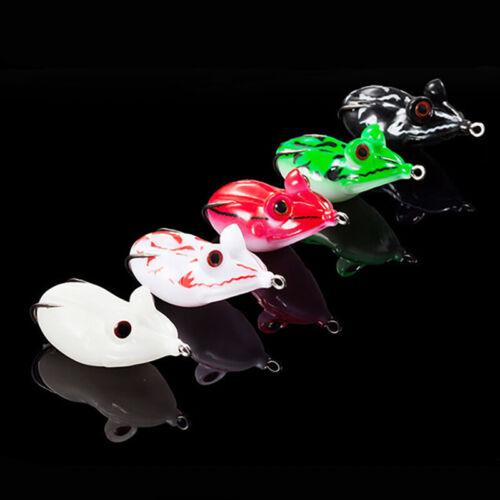 Lots of 5pcs 10g 4.5cm Silicone Frog Big Eyes Lures Snakehead Fishing w// PVC Box