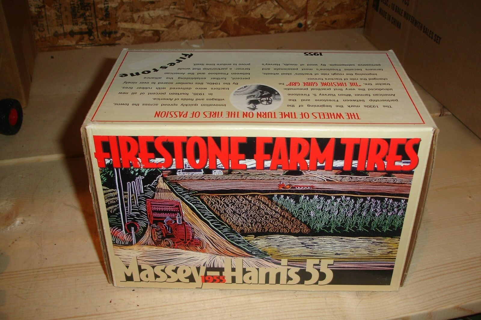 1 16 Massey Harris 55 Toy Tractor - Firestone Tires