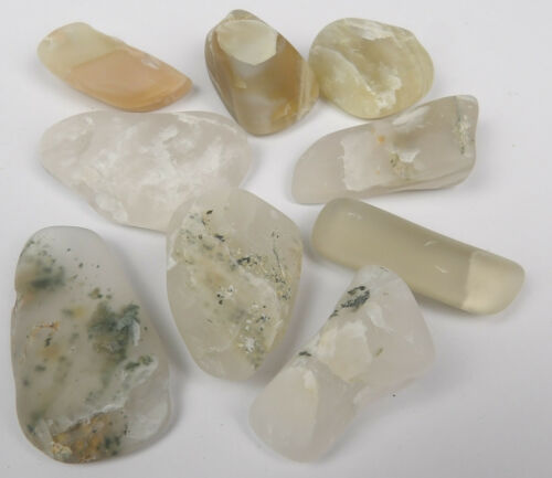 """5 Sizes Available Indian /""""Sea Pebbles/""""  Reiki Stone Moonstone Crystals"""