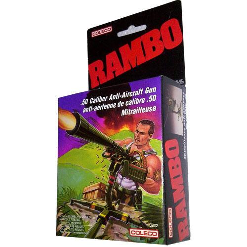 RAMBO 1985//86 SAVAGE .50 Caliber Anti-Aircraft Gun New Mint in Sealed Box MISB!