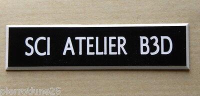 Amichevole Plaque De Boite Aux Lettres, Porte, Sonnette Petit Modèle Personnalisée 1 Ligne Merci Di Alta Qualità