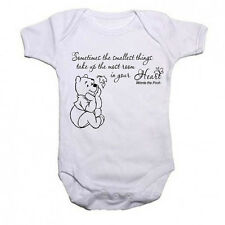 Winnie The Pooh Beautiful Quote Funny Babygrow Baby vest Bodysuit Gift Present