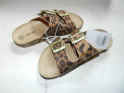 New Girls Sandals Size 13 from Cherokee Leopard Print Adjustable