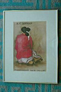 1977-R-C-Gorman-Navajo-Woman-Southwest-Art-Print-Stables-Gallery-Signed-Twice