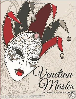 Venetian Masks Adult Colouring Book Creative Calm Patterns Art Therapy Relaxing