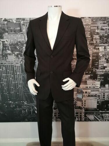 """Brand New simple Costume Noir Tour De Poitrine 42/"""" Taille 32/"""" Entrejambe 34/"""" laine mélangée"""