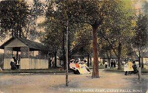 C76/ Great Falls Montana Mt Postcard 1913 Black Eagle Park