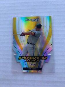 2005-J-D-Drew-Donruss-Power-Alley-Yellow-Die-Cut-9-25-2004-Braves-JD
