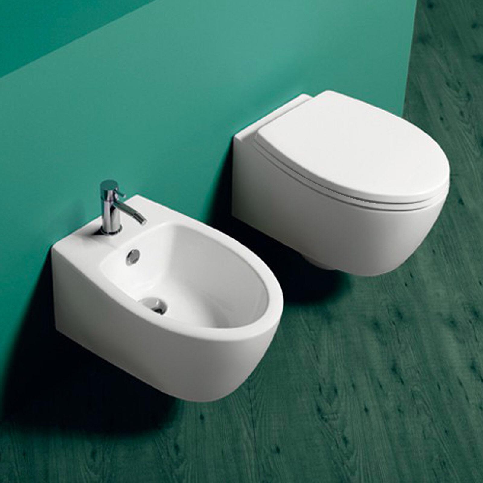 Sanitari sospesi bagno bagno bagno design arrossoo wc bidet sedile tavoletta softclose offerta e7e2ae